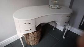 Shabby Chic Louis Style Dressing Table, Desk Pale Taupe Grey.