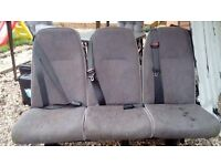 Van seats with belts