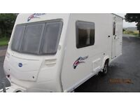 BAILEY PAGEANT series 6 2 berth 2007 with MOTOR MOVER + PORCH AWNING