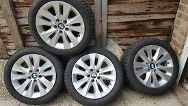 4 Dunlop Runflat SP Winter Sport M3 tyers with alloy wheels