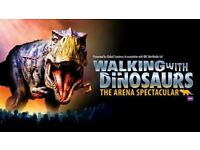Walking with Dinosaurs Family ticket 2x Adults 2x Children