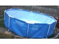 10 ft steel pro frame pool