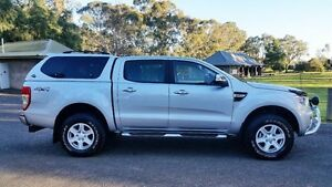 2013 Ford Ranger PX XLT Double Cab Highlight Silver 6 Speed Sports Automatic Utility Tanunda Barossa Area Preview