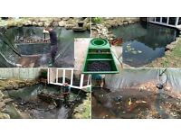 Koi, Comets, Vortex filter system, UV, Powerful pumps, complete pond to clear.
