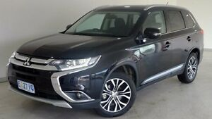 2015 Mitsubishi Outlander ZK MY16 LS 4WD Black 6 Speed Constant Variable Wagon Hobart CBD Hobart City Preview