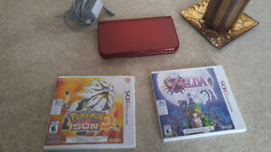 New 3DS XL with Pokemon Sun and Zelda Majora mask