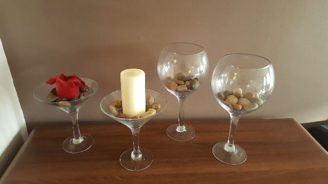2 X Martini Glass Candle Holder 2 X Giant Wine Glass For Sale In