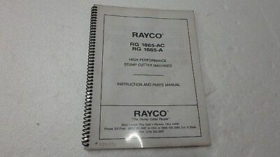 Rayco 1665-ac A Stump Cutter Operator Parts Manual Ci10