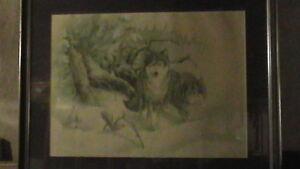 Old Micheal Dumas Wolf Print Kitchener / Waterloo Kitchener Area image 1