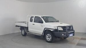 2011 Toyota Hilux KUN26R MY10 SR Glacier White 5 Speed Manual Cab Chassis Perth Airport Belmont Area Preview