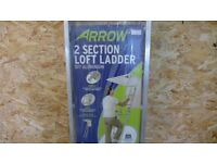 Two Section Abru Arrow loft ladder with handrail