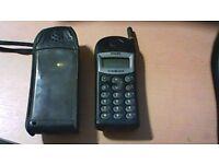 PHILIPS CELLNET OLD STYLE 'BRICK' MOBILE PHONE, IN HOLDER/CASE. VINTAGE