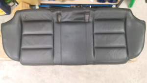 Audi A4 rear seats black leather