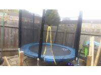 12ft trampoline with net