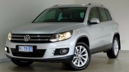 2014 Volkswagen Tiguan 5N MY14 155TSI DSG 4MOTION Silver 7 Speed Sports Automatic Dual Clutch Wagon