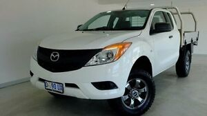 2013 Mazda BT-50 UP0YF1 XT Freestyle 4x2 Hi-Rider White 6 Speed Manual Cab Chassis Hobart CBD Hobart City Preview