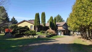 Home on over 10 Acres minutes from the city.