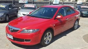 2007 Mazda 6 GG MY07 Classic Sports Red 5 Speed Auto Activematic Hatchback Maidstone Maribyrnong Area Preview