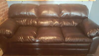 New Leather Couch - New LOWER price!