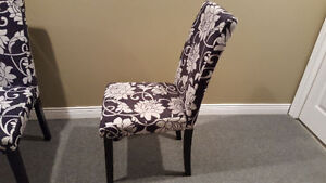 4 Black/White Floral Accent Chairs $150 OBO Cambridge Kitchener Area image 2