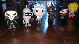 Funko Pop overwatch dbz futurama lotr game of thrones breaking