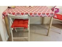 Ikea pine table with chairs