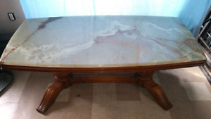 Antique Marble Adjustable Table