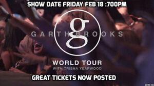►►Garth Brooks & Trisha Yearwood Rogers ►THU Feb 23 7:30PM