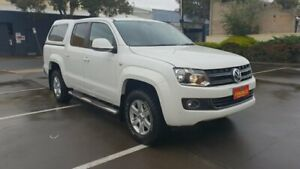 2013 Volkswagen Amarok 2H MY12.5 TDI420 Highline (4x4) White 8 Speed Automatic Dual Cab Utility Melrose Park Mitcham Area Preview