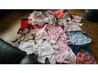 New born baby girl clothes bundle