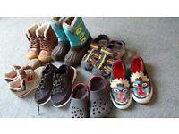 kids footwear size 7/8 boots shoes sandals