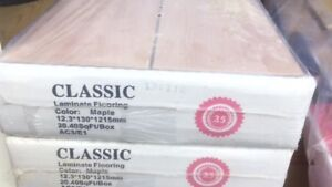 """LAMINATED FLOORING 12.3"""" THICK FOR SALE"""