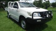2013 Toyota Hilux KUN26R MY14 SR Double Cab White 5 Speed Manual Utility Winnellie Darwin City Preview