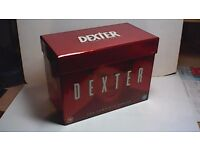 DEXTER - THE COMPLETE SERIES, 33 DVD'S BOXED SET, MINT CONDITION.