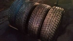 P225/60R16 Nexen Winguard tires m+b on black steel wheels