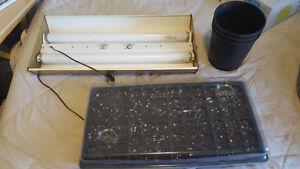 Outdoor or indoor garden growing kit plants!! Grow light ect
