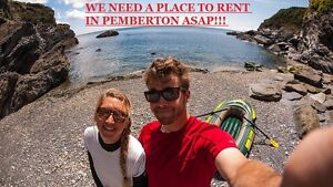 Place to rent in PEMBERTON BC needed