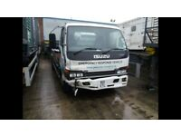 Iusu nqr 70 flatbed accident damaged not recorded driveable manual gearbox 2003 model direct