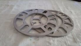 new alloy wheel spacers 2 x 5mm grey
