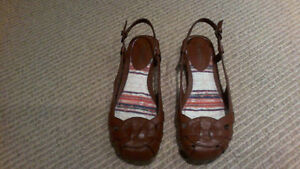 BRAND NEW Women's Brown Sling Open Flats, SIZE 7 London Ontario image 1