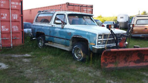 1983 Chevrolet Blazer K-5 Pickup Truck Diesel with Snow Plow 4x4