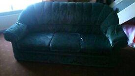Green sofa 3 seater