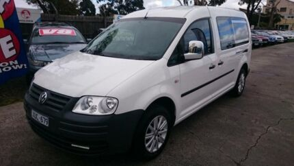 2010 Volkswagen Caddy 2K MY09 Maxi Life White 5 Speed Manual Wagon Maidstone Maribyrnong Area Preview