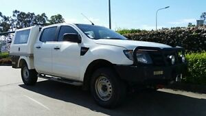 2012 Ford Ranger PX XL Double Cab White 6 Speed Sports Automatic Cab Chassis Acacia Ridge Brisbane South West Preview