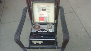 Antique 1960's Webcor electric recorder with clip on microphone
