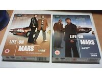 LIFE ON MARS - THE COMPLETE SERIES ONE & TWO BOX SETS-MINT CONDITION