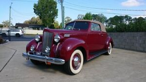 1938 Packard 115C Maroon 5 Speed Manual Convertible Capalaba Brisbane South East Preview