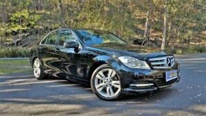 2013 Mercedes-Benz C200 W204 MY13 Black Semi Auto Sedan Springwood Logan Area Preview