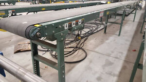 conveyors, Conveyer assorted used Hytrol belted sizes 3ft–41 ft