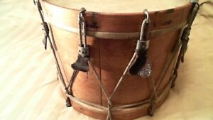 "rope tension marching snare drum 13""x 16 "" rare pre 1900s"
